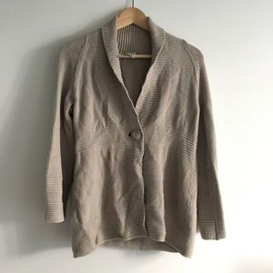 Chico's one button down sweater cardigan Size 0
